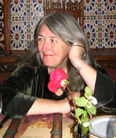 mary beard in Cairo with flower